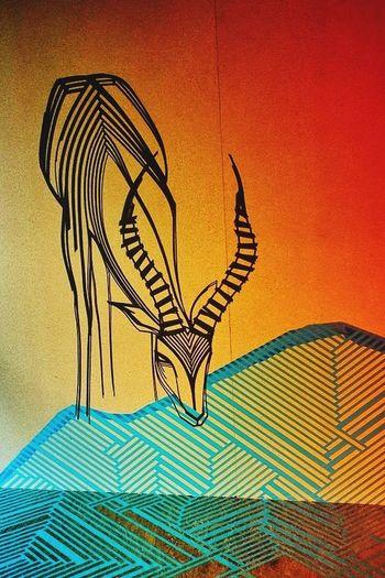 Tape Art TAPE OVER Graffiti ArtWork