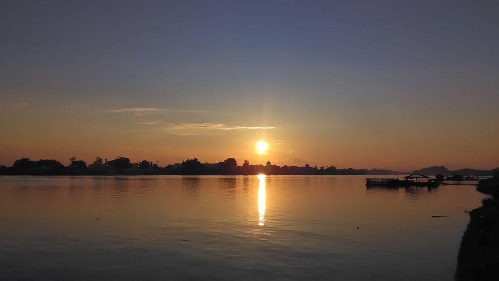 Sunset Pulau Duyung Kuala Terengganu Reflection Sunset Water Scenics Sky Tranquility Tranquil Scene Sun Landscape first eyeem photo