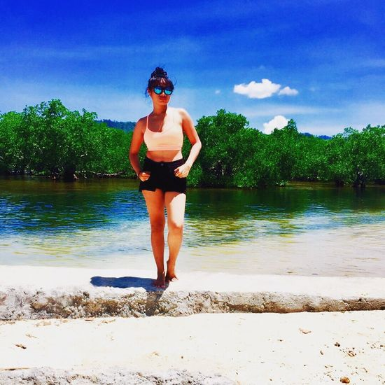 Hi Im Back😃 Sky Blue Sky And Clouds Green Green Green!  Beachphotography Beach Life Beach Girl Shoot Its Me😉