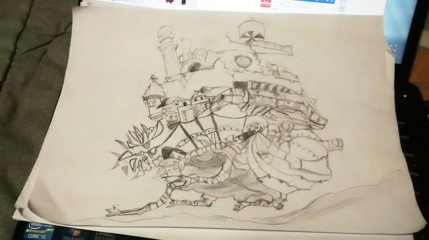Howl's Moving Castle Photography Art Draw