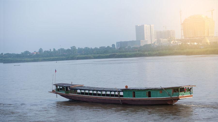 A boat sailing