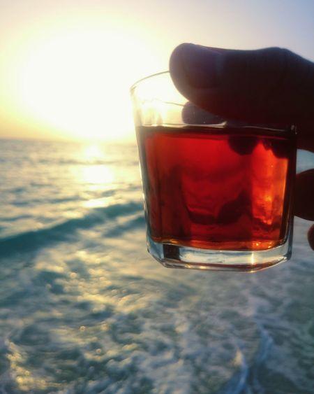 Tea Dawn Sunrise Sea Skyporn Cup Vintage