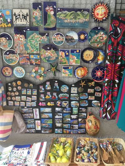 Multi Colored Retail  Choice For Sale Variation Arrangement Abundance Large Group Of Objects No People Market Market Stall Art And Craft Creativity Side By Side Collection