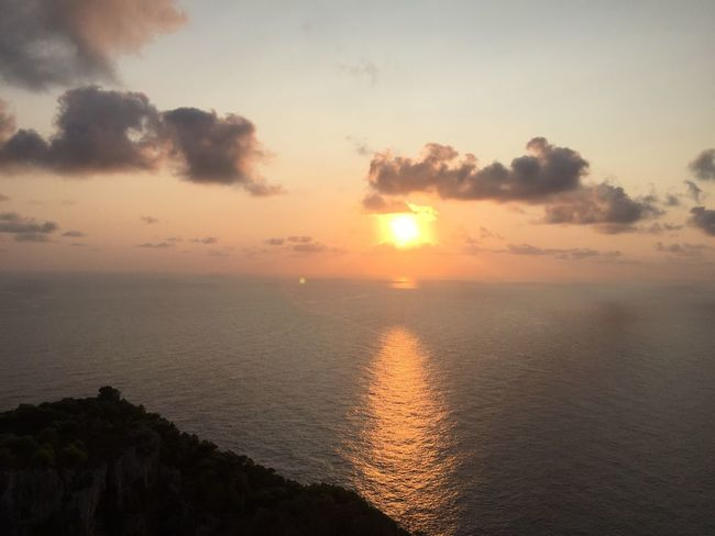 At the end of the day. (2) Greece Photos Zakynthos Island Sunset Sea Scenics Beauty In Nature Tranquility Nature Sun Sky Idyllic Horizon Over Water