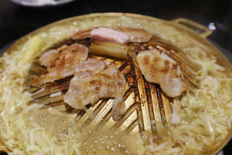Roasted pork on