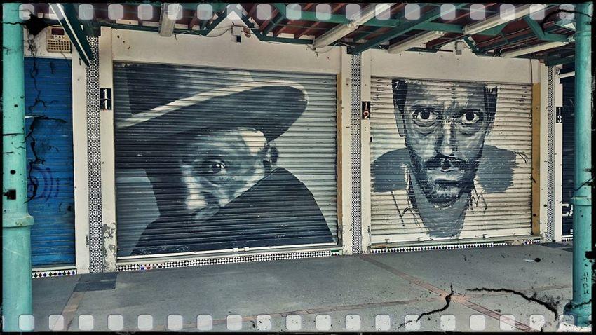 Picasso Dr. House Sony XPERIA Urbanphotography Streetphotography Benalmádena Vintage Graffiti Graffiti Art Street Art Doors Door Taking Photos EyeEm Best Edits Walking Around Up Close Street Photography