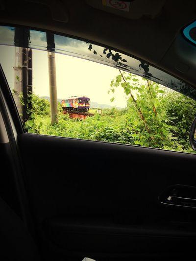 丹鉄 Vezel Summer Kyoto,japan Kumihama Local Train Mode Of Transportation Window Glass - Material Car Transportation Motor Vehicle Summer Road Tripping No People Summer Road Tripping Summer Road Tripping
