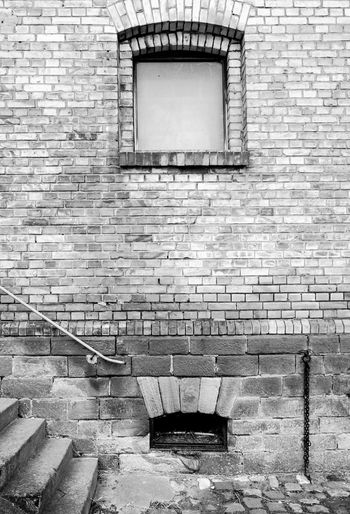 Rural Brickwall Architecture Brick Wall Brickwall Building Built Structure Closed Day Deterioration Empty No People Old Outdoors Rural Building Stairs Wall Wall - Building Feature Window