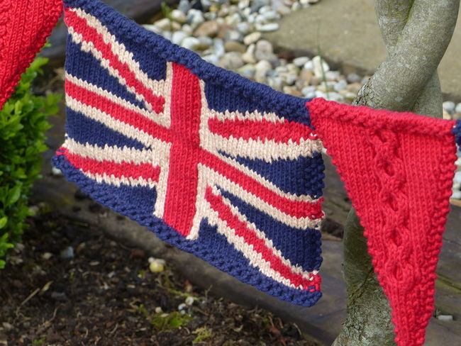 Fabric Texture Knitting Knitted Union Jack Union Jack Flag Knitted Bunting Union Jack