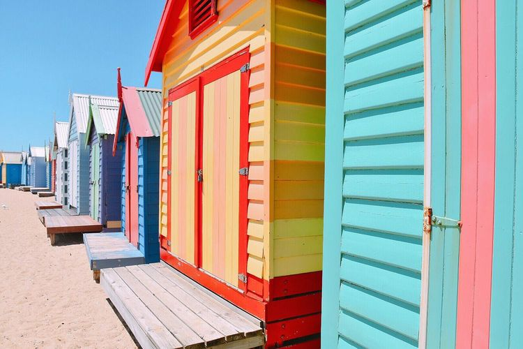 Multi Colored Outdoors Beach BeachHouse Melbourne Summer Australia EyeEmNewHere