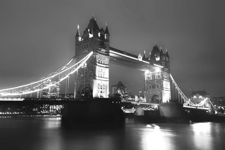 Tower Bridge Built Structure Architecture Night Water Illuminated Travel Destinations Bridge Bridge - Man Made Structure City Reflection No People Travel River Tourism Building Exterior