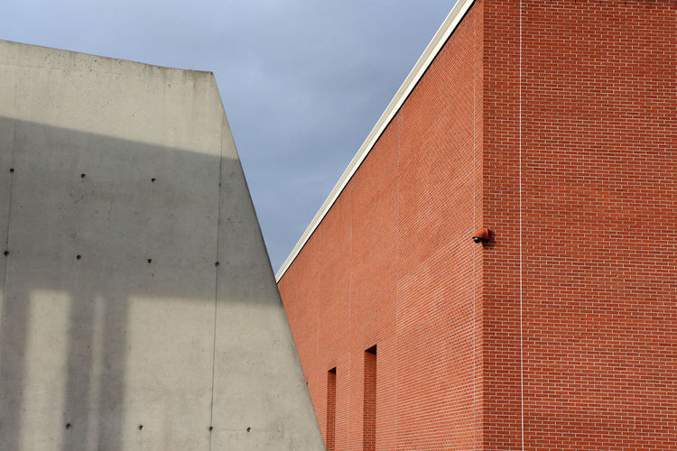 Vitra Campus Architectural Feature Architecture Brick Brick Building Brick Wall Bricks Cloud - Sky Concrete Concrete Wall Contrast Minimal Architecture Minimal Edit Modern Architectural Modern Architecture Shadow Sky Vitra Campus