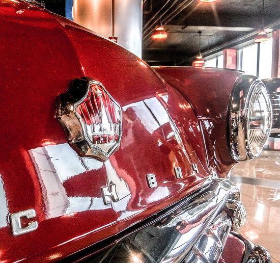 Car Retro Red Steel