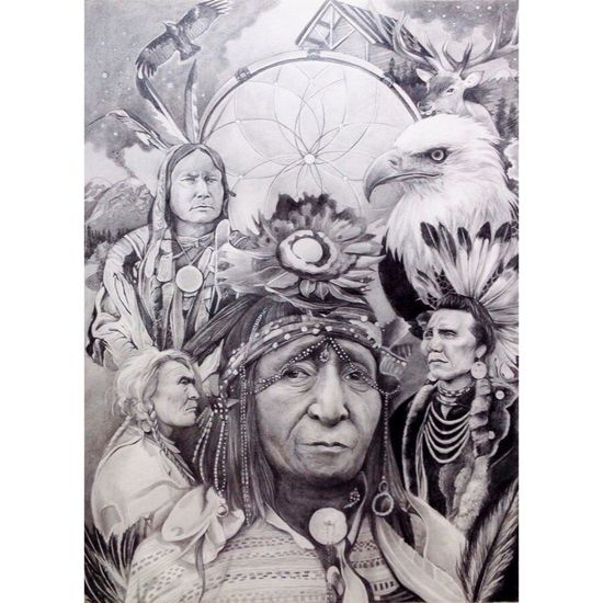 nativeamericans G r a graphitedrawing Life In Motion D ra drawingandwhite