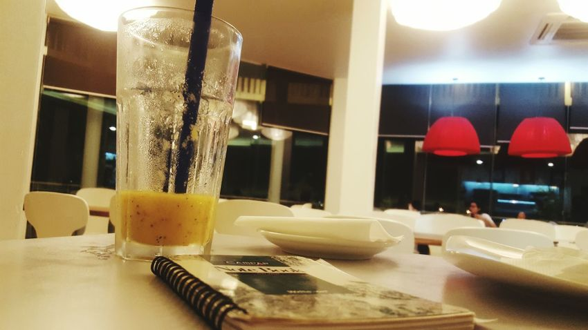 My heaven...best place to be Shake Notebook Mango Passion Best Bread In Town Phnompenh Cambodia កម្ពុជា