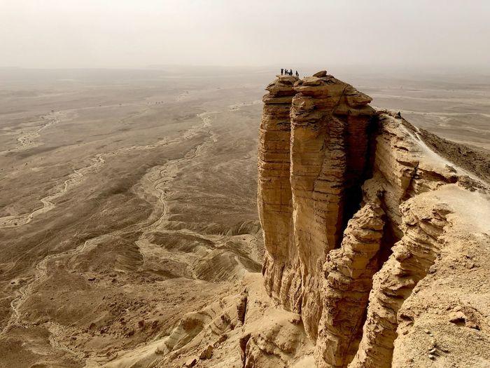 An epic view of the edge of the world near riyadh, saudi arabia.