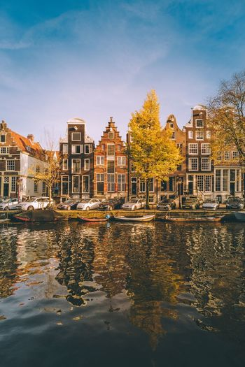 Amazing Amsterdam EyeEm Best Shots Explore Photography Cityscape Summer Architecture City Sun Holiday Canal Houses Holland Netherlands Amsterdam Building Exterior Built Structure Architecture Water Sky City Nature Reflection Tree Waterfront No People Building Travel Destinations Outdoors Day Travel