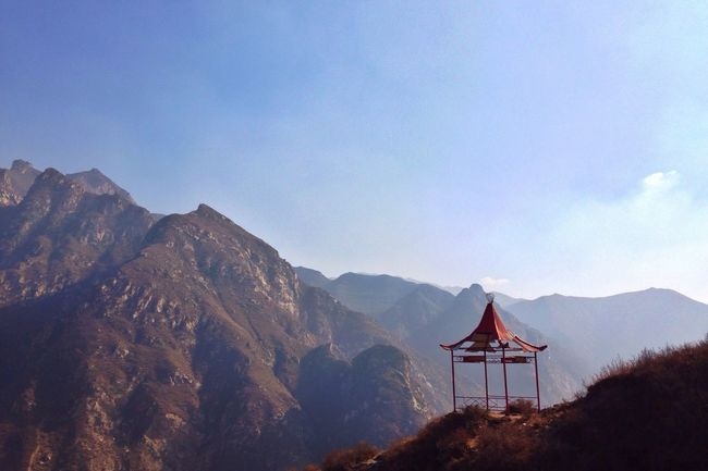 Seeking the ancient temple (殊海寺) in deep mountain. 6. Ying County Shanxi Province Mountains Pavilion Lonliness