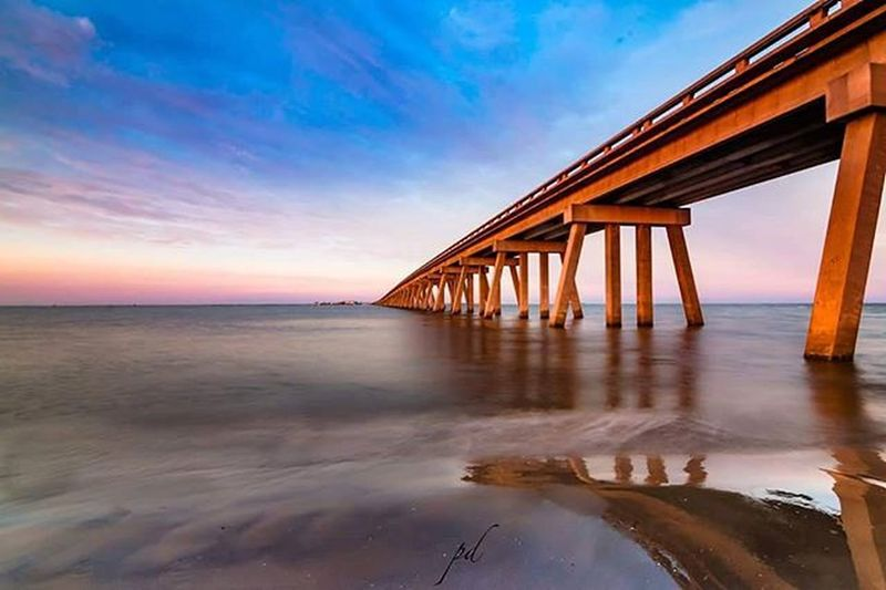 """Serenity"" I had lot of fun testing Leefilters on field last week. The sunset was exploding with colors. Hope you like it. 500px Texas_ig Ig_best_sunset Igtexas Texas Texasmonthly Galveston Ig_bridges Bridge Bridges Landscape_obsessions Landscape_lovers Landscape_captures Ipulledoverforthis Longexposure Subtle Longexposhots Landscape_kings Ig_shotz_bridges Ig_shotz Ig_bestimages Amazing_longexpo Houston_photographers Long Exposure"