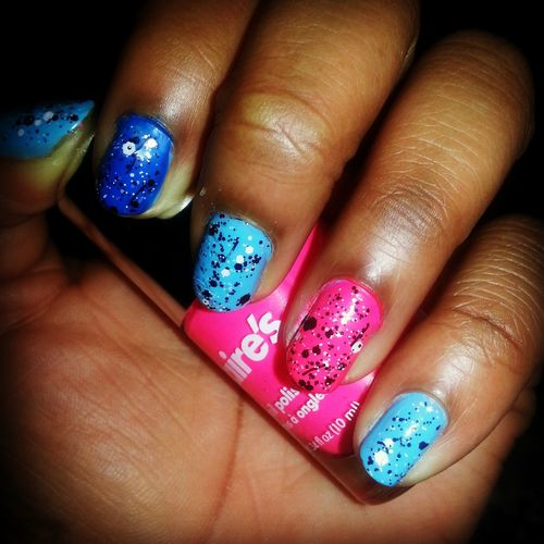 NaturalNails Colorful Paint Splatter