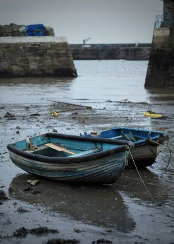 Harbour Mevagissey Sea Water Boat Boats⛵️ Rope Winter Wet England United Kingdom Great Britain Cornwall Uk Mud Muddy Sandy