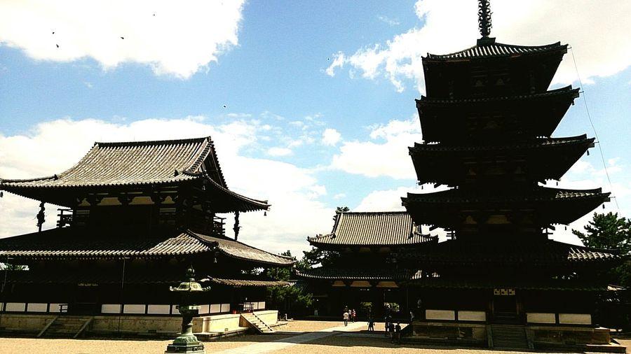 Japanese Temple Nara,Japan 法隆寺 (Horyuji Temple)