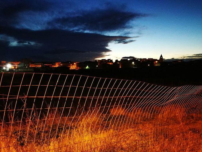 Il Cielo Oltre Le Sbarre... Agriculture Farm Field Rural Scene Outdoors No People Sky