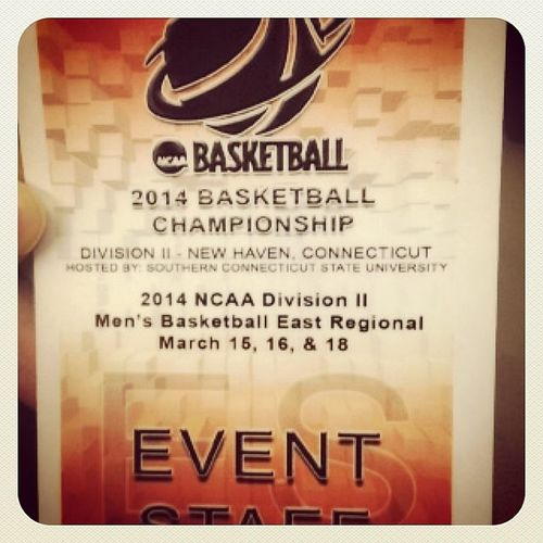 🏀ready for this tournament to start🏀 2014ncaaeastregional @southernctowls Eventstaff