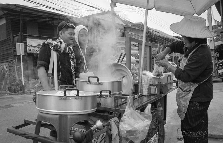 Steetphoto_bw Thailand Chiangkhan Loei Blackandwhite Photography Trip Dark Holidays