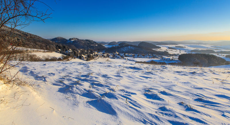 Sauerland Sonnenaufgang Winter Cold Temperature Landscape Landscape_photography Sky Snow Winterlandschaft