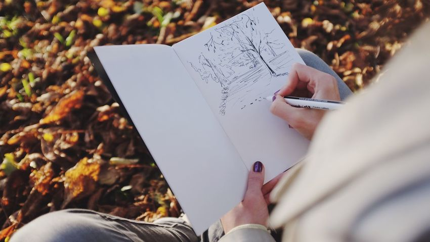 Sketching with Autumn Colors