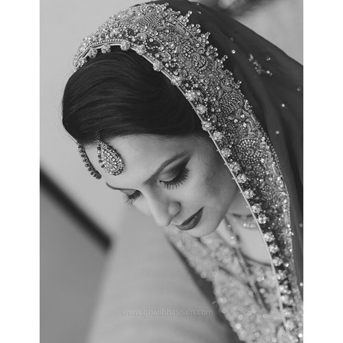 Beautiful Bride at today's wedding shoot Wedding Weddingshoot Wppi2015 Ghalibhasnain Ghalibhasnainphotography B &w Classicstyle