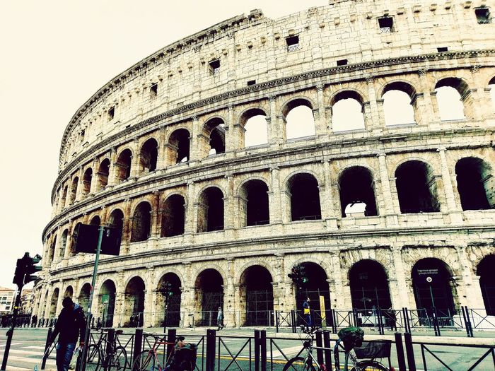 Roma, Italy Colessum Built Structure Low Angle View Outdoors Day Architecture Sky No People Close-up
