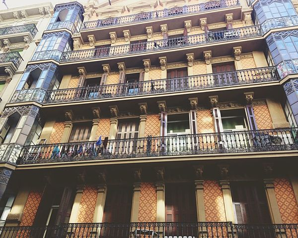 Beautiful building Barcelona Architecture Traveling Outside Streetview