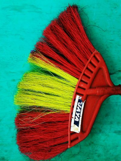 My broom is cooler than Harry Potter's Streetphotography Urban Photography Things Around Red Yellow Turquoise Colorfull Colorphotography Taking Photos Things Around Me Broom Abstract