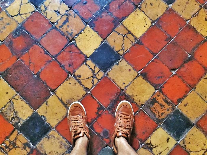Out Of The Box Shoe Pattern Human Leg High Angle View Human Body Part Standing A Bird's Eye View Eyeem Philippines Adventures In The City