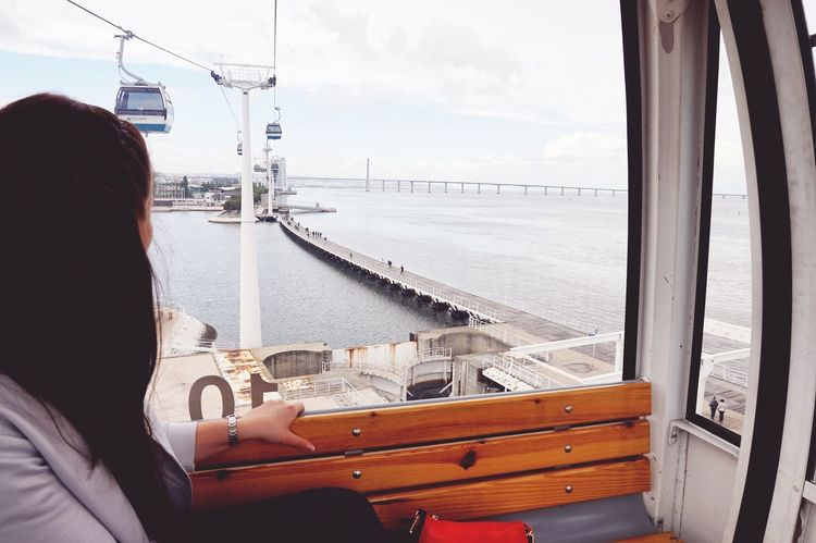 Great View ;) Rio Tejo Gondel Lissabon