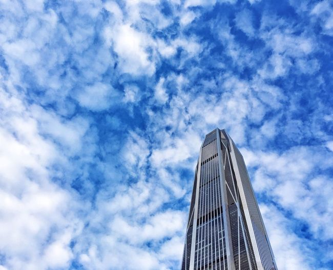 IPhoneography Low Angle View Architecture Built Structure Sky Cloud - Sky Day No People Building Exterior Shenzhen.China Clouds And Sky