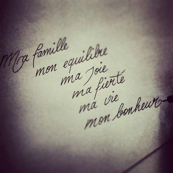 Calligraphie Famille ❤