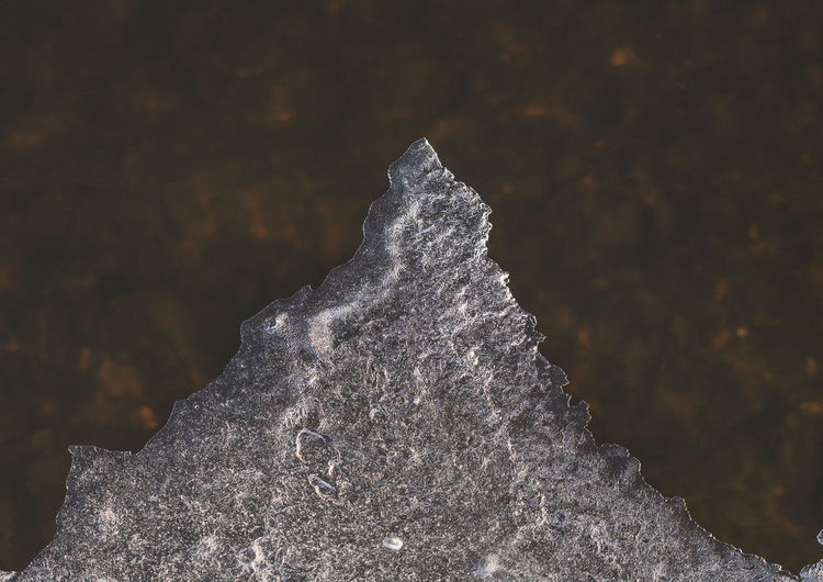 Close-up of water on rock