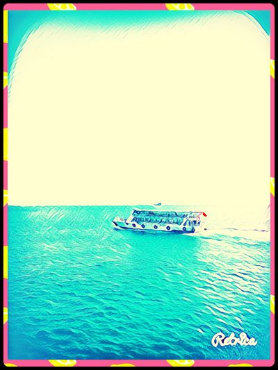 Nautical Vessel Sea Water Transportation Outdoors Day Nature Frame Art Is Everywhere People Amazing View ❤️🌿☘️🌺🌷 Fun✨😌🌟💐 Beauty In Nature City Summertime🌼🍃🌺🌷☘️🌿😍✨ Sun ArtWork Ferry