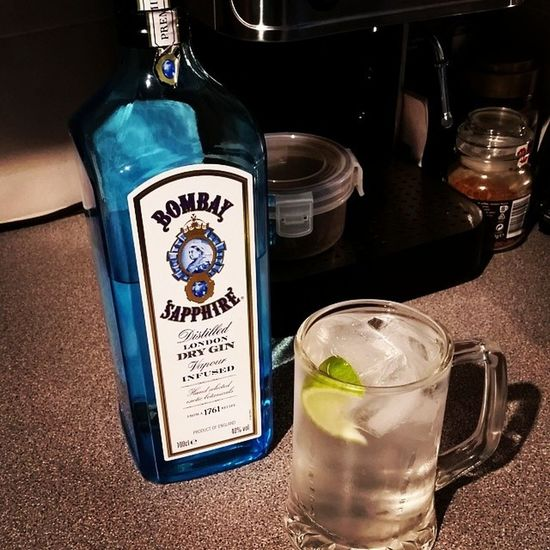 Good end to a long day Bombaysapphire Slimline Lime