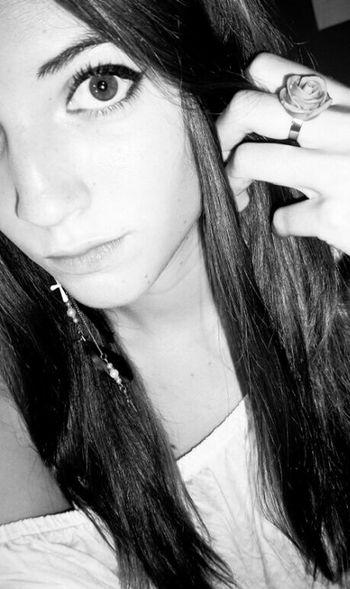 Taking Photos Brunette Eye Makeup Ring Roses Straightface Selfie