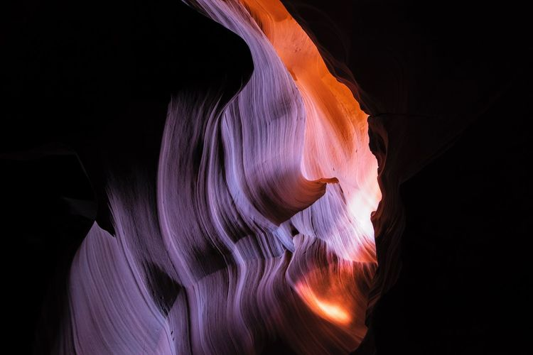 Antelope Canyon Nature Photograhy EyeEm United States Of America Antelope Canyon Black Background Studio Shot Indoors  Motion Close-up Copy Space Abstract