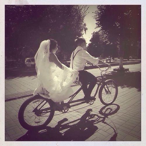 Lutsk Bicycle Outdoors Togetherness Wedding