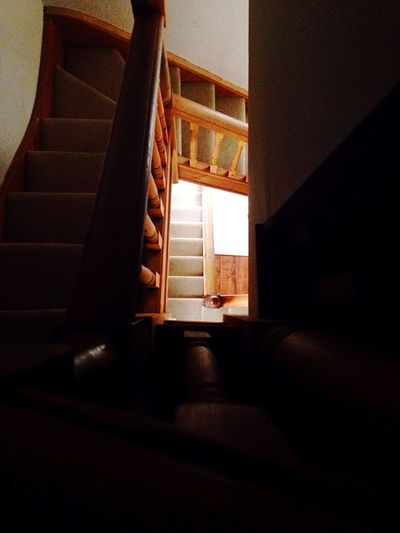 Stair shot Looking Down Indoors  Window Home Interior No People Sunlight Architecture Low Angle View Staircase Day