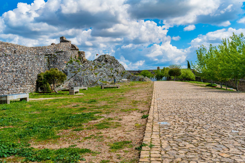 Castelo de Marvão Ancient Ancient Civilization Archaeology Architecture Building Exterior Built Structure Cloud - Sky Day Direction Footpath Grass History Nature No People Old Old Ruin Outdoors Plant Ruined Sky Stone Wall The Past The Way Forward Tree Wall
