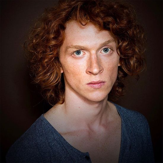 Jacopo Portrait Redhead Curly Hair Looking At Camera One Person Headshot Indoors  Studio Shot Studio Model Portraits Portrait Photography Indoors  Men Hairstyle Human Face