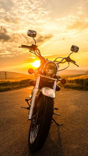 Motorcycle Freedom Live Free Ride Free Sunset After Tour Hill