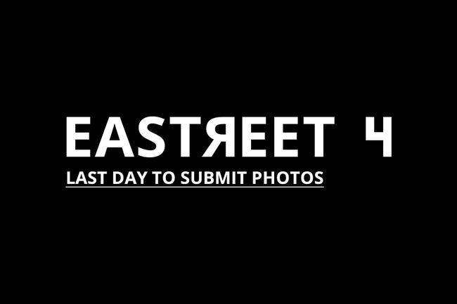 Last day to submit your photos to Eastreet 4 – exhibition and publication promoting photography from Eastern Europe. Deadline on Friday 28th July, at midnight EET. Submissions are free! Go to >>> http://eastreet.eu <<< Contest Deadline Eastern Europe European Union Last Day Photography Exhibition Competition Eastreet Eastreet.eu Eu Exhibition Gallery Open Call Photography Gallery Submit Photos Submit Pics